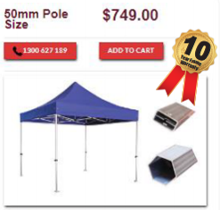 marquee 3x3 50mm
