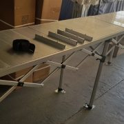 3m x 60cm alloy table